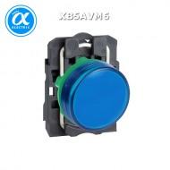[슈나이더]XB4BVM6 /파일럿램프/메탈 베젤 AC220V 청색