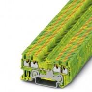 [피닉스컨택트] 3208333 / 접지 모듈형 단자대 PT 1,5/S-QUATTRO-PE / [구매단위:1패키지=50개]