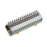 [삼원ACT]R16P-PC-DC24VC /대형릴레이보드/접점용량 10A, 1C접점, DC24V OMRON G2R 릴레이 장착