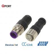 [삼원ACT] M12C-FDN-TR / 필드버스케이블 부속품 / M12콘넥터 일체형 종단저항(Female) / DeviceNet