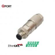 [삼원ACT]M12D-Q4M-S59 /필드버스케이블 부속품/통신용 EMI 차폐 M12 D-coded 콘넥터