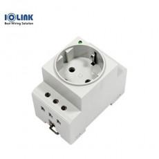 [삼원ACT] DRC-220V-16A / DIN RAIL 체결 220V AC 전원콘센트 / LED 동작 표시