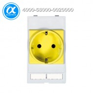 [무어] 4000-68000-0020000 / 판넬 전면 인터페이스 - 인서트 / MODLINK MSDD SOCKET INSERT GERMANY / 250VAC/16A yellow