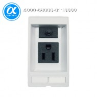 [무어] 4000-68000-0110000 / 판넬 전면 인터페이스 - 인서트 / MODLINK MSDD SOCKET INSERT USA NEMA 5-15 / 125VAC/3A with fuse