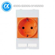 [무어] 4000-68000-0140000 / 판넬 전면 인터페이스 - 인서트 / MODLINK MSDD SOCKET INSERT GERMANY / 250VAC/16A orange
