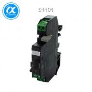 [무어] 51101 / 릴레이 모듈 / RMMDH-AK 11/24 WITH TOGGLE SWITCH / IN: 24 VDC - OUT: 250 VAC/DC / 3 A / 1 C/O contact - 12 mm screw-type terminal