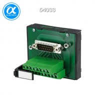 [무어] 54033 / 패시브 인터페이스 - SUB-D/Male 커넥터 / SV-SUB D 37ST.-KL  FOR SIGNAL TRANSFER / 125 VAC/DC / 2 A / mounting rail / screw-type terminal