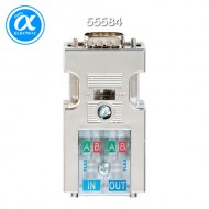 [무어] 55584 / 아답터 / PROFIBUS-PLUG-MALE (SUB-D) 180° / Cut clamp for rigid and flexible wires