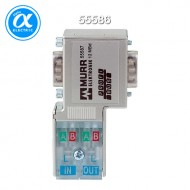 [무어] 55586 / 아답터 / PROFIBUS-PLUG-MALE (SUB-D) 90° WITH PG / Cut clamp for rigid and flexible wires
