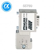 [무어] 55760 / 아답터 / CAN-PLUG-MALE (SUB-D) 90° / Screw terminals up to 1Mbits/s