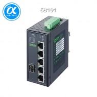 [무어] 58191 / 스위치/Unmanaged Switch((PoE) / 6 Port unmanaged Gigabit Switch 4 PoE 1 SFP Ports IP20 metal 48V / 6 (4PoE, 1SFP) port  - 기가비트 - unmanaged switch