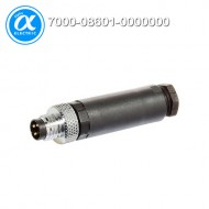 [무어] 7000-08601-0000000 / 커넥터/Signal / M8 MALE 0° FIELD-WIREABLE SCREW TERM. / 3-pol. 0,14…0.5mm²