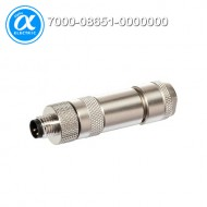 [무어] 7000-08651-0000000 / 커넥터/Signal / M8 MALE 0° SHIELDED WIREABLE SCREW TERM. / 4-pol. 0,14…0.5mm²