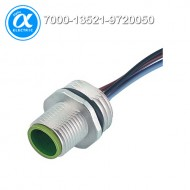 [무어] 7000-13521-9720050 / 플랜지 커넥터/Signal / M12 MALE FLANGE PLUG A CODED FRONT MOUNT / PP-wires 5X0.34 0.5m