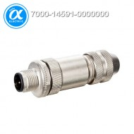 [무어] 7000-14591-0000000 / 커넥터/Data / M12 D-CODE MALE STRAIGHT 6..8MM / D-cod., 4-pol., cable Ø 6...8mm, max. 0.75 mm², shielded / Ethernet CAT5
