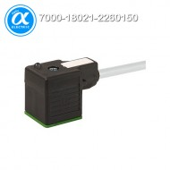 [무어] 7000-18021-2260150 / 밸브 커넥터+케이블 / MSUD VALVE PLUG FORM A 18MM / PUR 3X0.75 GRAY, 1.5m
