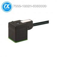 [무어] 7000-18021-6360300 / 밸브 커넥터+케이블 / MSUD VALVE PLUG FORM A 18MM / PUR 3X0.75 black UL/CSA, drag ch 3m
