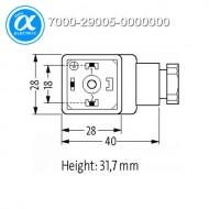 [무어] 7000-29005-0000000 / 밸브 커넥터 / SVS ECO LED VALVE PLUG FORM A 18MM LED VDR 24V / 2+PE field-wireable M16x1.5