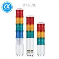 [큐라이트] ST45ML / 시그널 타워램프(Ø45) / 직부형 / 외경 45mm LED 점등/점멸형 타워램프 / Max.90dB 부저음 고정형(선택 사양)