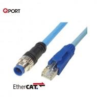 [삼원ACT] M12C-EEC-H□ / 필드버스케이블 / RJ45 콘넥터 일체형 EtherCAT 케이블 / UL-내유성-가동용