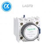 [슈나이더] LADT2 / 전자접촉기(MC) 액세서리 / TeSys 접촉기 부속품 / TeSys D, F / 시간 지연 보조 접점 블록 - 1NO + 1NC - On delay 1...30s - 스크류  터미널