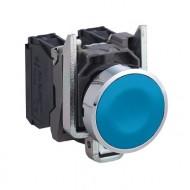 [슈나이더]XB4BA61 /누름버트 스위치/메탈 베젤 일체형 청색 1A접점
