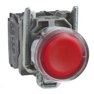 [슈나이더]XB4BW34M5 /조광누름버트 스위치/메탈 베젤 AC220V 적색 1A1B접점