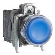 [슈나이더]XB4BW36M5 /조광누름버트 스위치/메탈 베젤 AC220V 청색 1A1B접점