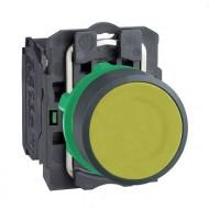 [슈나이더]XB5AA51 /누름버트 스위치/플라스틱 베젤 일체형 황색 1A접점