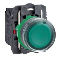 [슈나이더]XB5AW33M5 /조광누름버트 스위치/플라스틱 베젤 AC220V 녹색 1A1B 접점