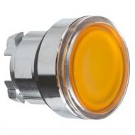[슈나이더]ZB4BW353 /조광누름버트 스위치/메탈 베젤 조광헤드 복귀 황색